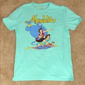 NWOT Disney Aladdin Turquoise TShirt M